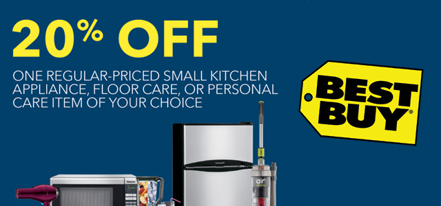 Best Buy 20 Off Small Appliance Coupon Code Currentmonth Currentyear