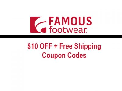 Famous Footwear $10 off $50 coupon