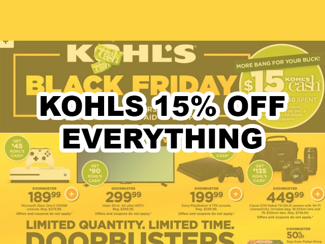 kohls 15% off coupon code