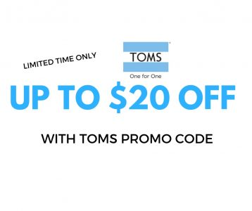 $20 Off TOMS Shoes Promo Code