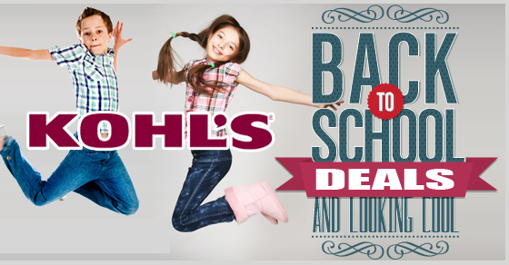 kohl's back to school 2020 coupon code deals