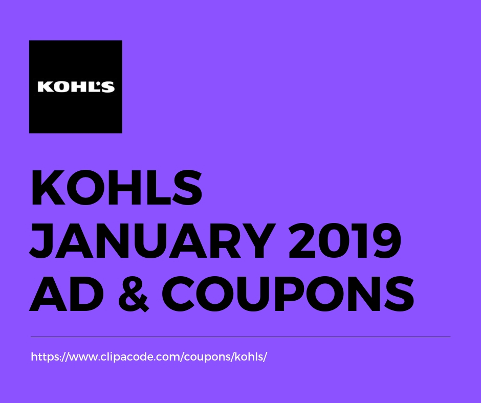 Kohls January 2020 Coupon Codes