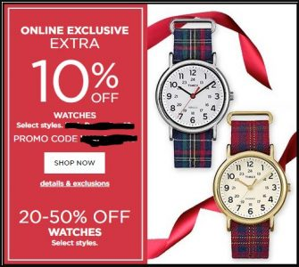 Kohls Watches Coupons