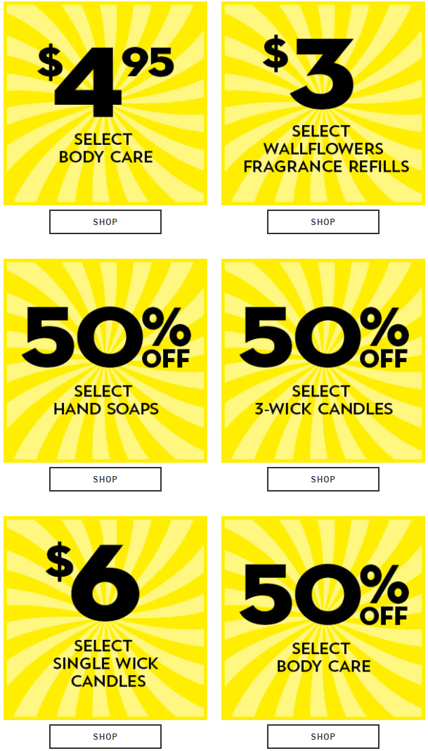 Bath And Body Works Top Offers